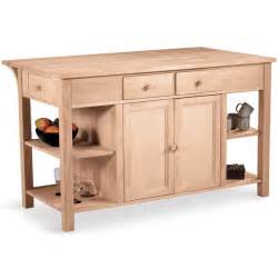 unfinished kitchen island free shipping on international concepts kitchen island work center w counter shelves