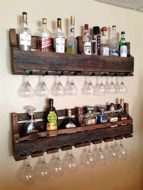 wineliquor racks  reclaimed pallets