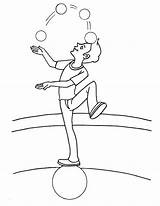 Acrobat Juggler Coloring Pages sketch template