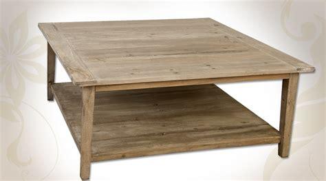 table basse carr 233 e en pin aspect bois recycl 233 avec deux plateaux