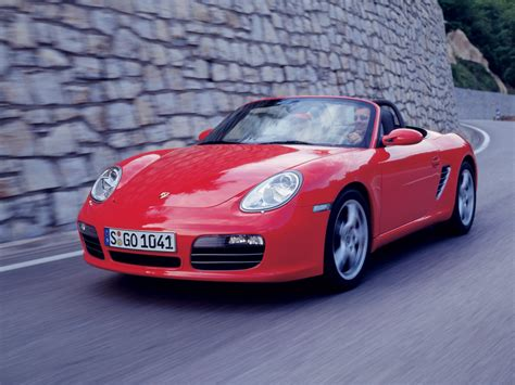 2005 Porsche Boxster S Front Angle Rock Wall