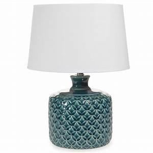 Lampe Cuivre Maison Du Monde : lampe en c ramique bleue h 34 cm porto maisons du monde ~ Teatrodelosmanantiales.com Idées de Décoration
