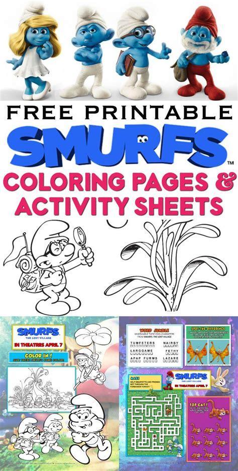 happy valentines day  printable smurfs coloring