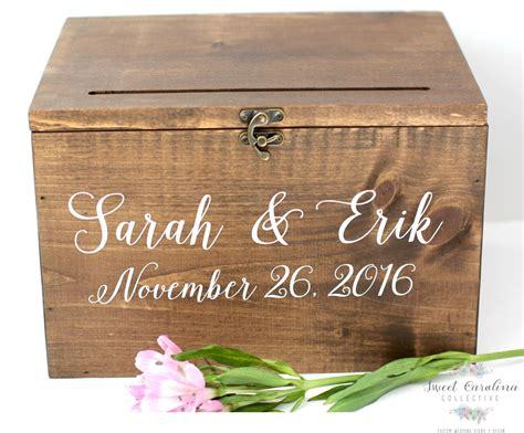 wood wedding card box with lid wedding money box