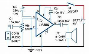 Skema Amplifier Sederhana Untuk Hp 1 Ic Tanpa Transistor