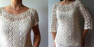 Crochet Top Pattern Lacy Shells Stitch Flattering Fit