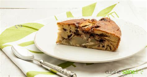 cuisine saine fr gâteau poire chocolat sans gluten ni plv cuisine