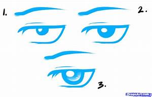 How to Draw Anime Male Eyes, Step by Step, Anime Eyes ...