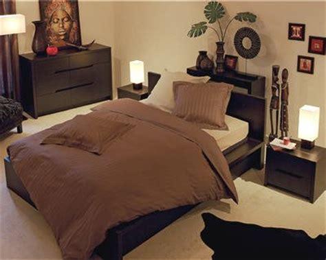 d馗oration pour chambre adulte décoration chambre adulte style africain