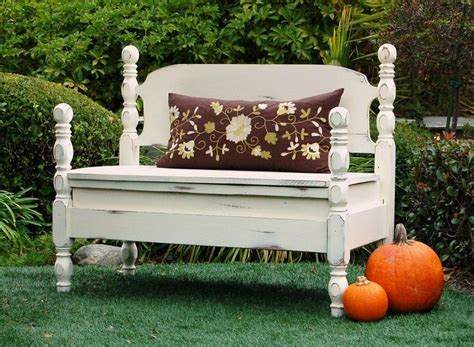 Bed Into Bench by Makandjill Headboard Made Into Bench With Storage Chalk