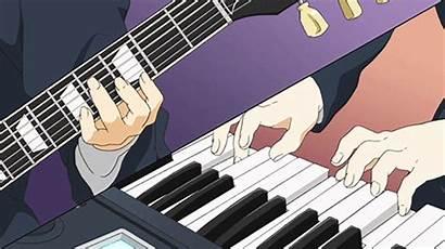Anime Guitar Piano Elfman Playing Veilig Winkelen