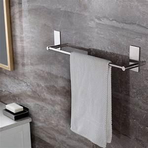 Zeta, Sus304, Stainless, Steel, Self, Adhesive, 16, Inch, Bathroom, Kitchen, Single, Towel, Bar, Bath, Wall