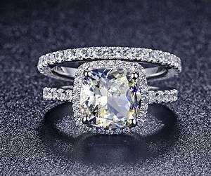 man made real diamond rings wedding promise diamond With man made diamond wedding ring sets
