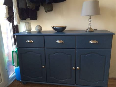 sideboard painted farrow  balls stiffkey blue grey