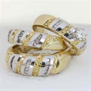 attractive his and hers trio wedding ring sets wedding ring - Walmart Wedding Sets