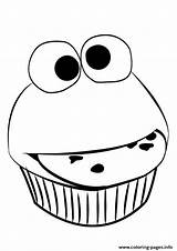 Cupcake Coloring Pages Easy Printable Funny Faces Muffin Outline Simple Drawing Template Sesame Street Sheet Birthday Toddler Clipartmag Getdrawings Realistic sketch template