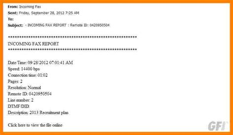 fake fax confirmation template ledger review