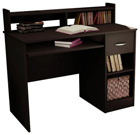 south shore axess desk south shore axess small wood computer desk with hutch in