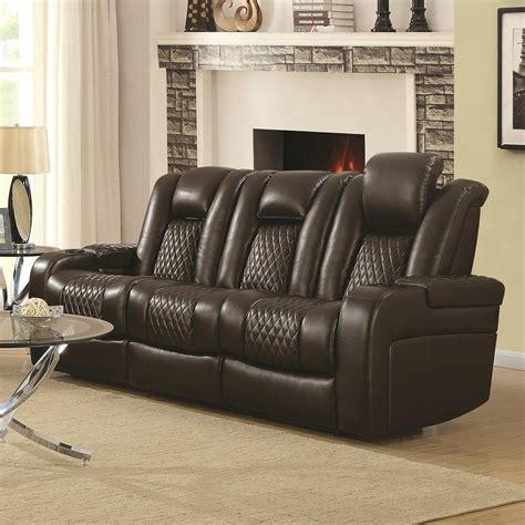 power reclining sofa with usb ports coaster delangelo 602304p casual power reclining sofa with