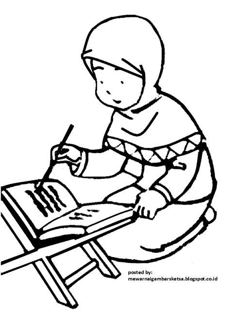 68 sketsa foto wanita berhijab kartun hitam putih gambar kartun kamu harus bersyukur hidup di dunia yang indah ini karena kamu di beri. Mewarnai Gambar: Contoh Mewarnai Gambar Kartun