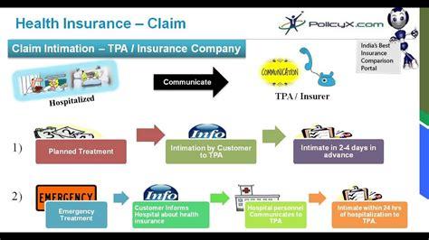 health insurance claim process claim assistance