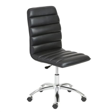 office chair with no arms eurostyle jaleh office chair no arms in black and chrome