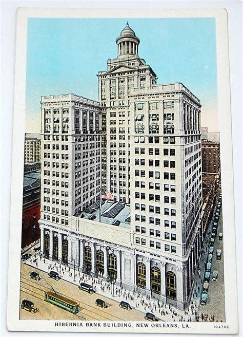 vintage postcard hibernia bank building  orleans