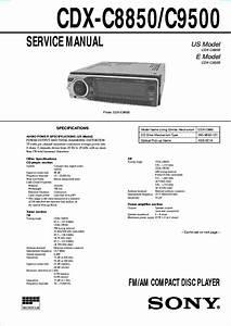 Sony Cdx F7700 Wiring Diagram