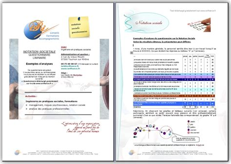 Evaluation Sociétale Des Organisations (questionnaire Gratuit