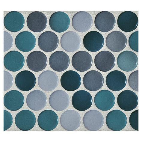 kitchen backsplash colors mosaic cerulean blend gloss complete tile