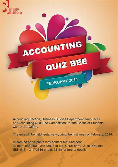 Bee Quiz Business Poster Accounting Academic