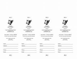 Blank Movie Ticket Template 4 Microsoft Word Ticket Templates Word Excel Pdf Formats