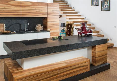 Holz Arbeitsplatte Küche by K 252 Che Wei 223 Mit Holz Brilliant Arbeitsplatte Led Leiste
