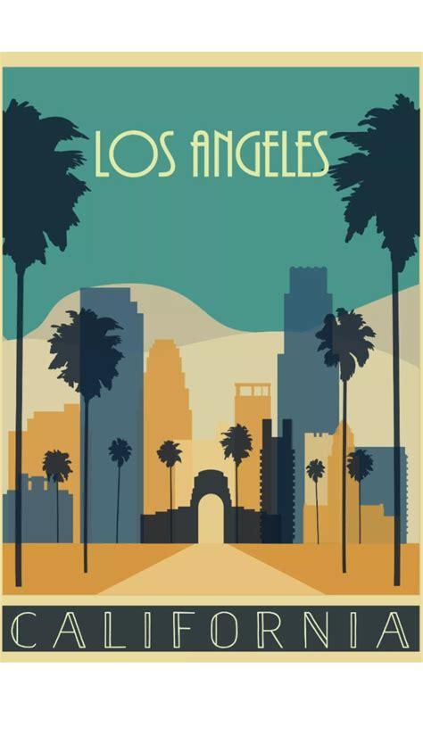 los angeles california poster klassische reiseposter