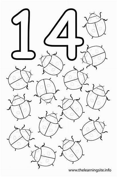 Number Coloring Preschool Worksheets Pages Printable Math