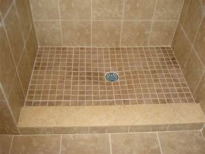 Tile Shower Pan In Enthralling In To Create A Gentle Slope