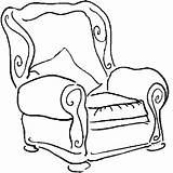 Coloring Sofa Armchair Pages Chair Furniture Designlooter Drawings 72kb 679px sketch template