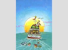Sea Sleigh Boat Christmas Card by LPG Greetings
