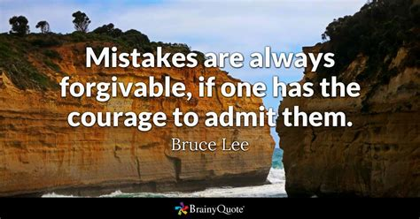 bruce lee mistakes   forgivable