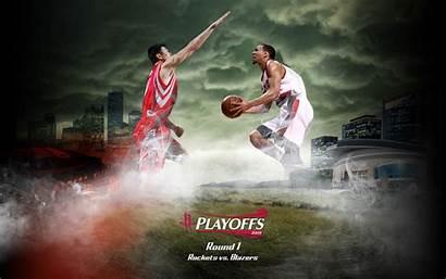 Sports Nba Basketball Playoffs Blazers Wallpapers Rockets