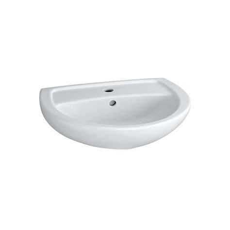 vasque lavabo ovale 55cm bastia pour salle de bains a fixer avec trop plein trou perc 233
