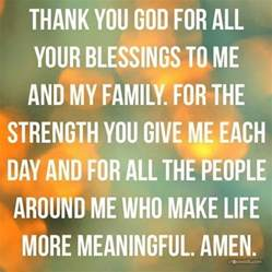 thank you god for blessing me and my family blessings i pray god and help me