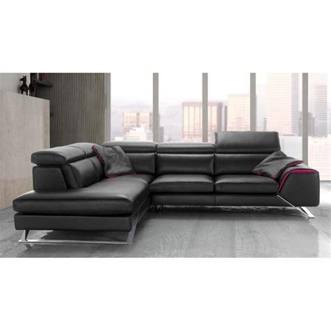 canapé d 39 angle avec grande méridienne cuir haut de gamme