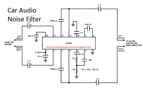 The Circuit Filters Noise In Car Audio Is Useful To Filter