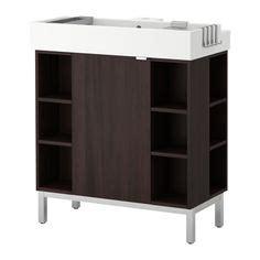 lill 197 ngen sink base cabinet with 2 door aluminum ikea