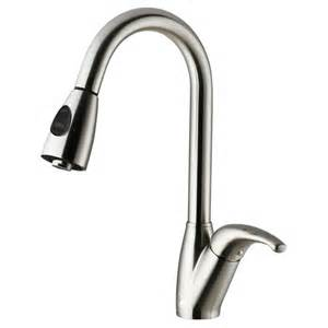 vigo kitchen faucet vigo single handle pull out sprayer kitchen faucet in stainless steel vg02017st the home depot