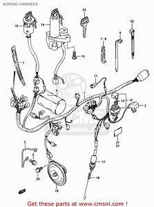 Suzuki Ts125 1991  Rm  Wiring Harness
