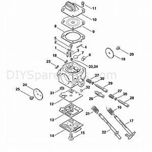 Stihl Ms 310 Chainsaw  Ms310  Parts Diagram  Carburetor Hd