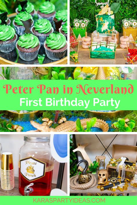 karas party ideas peter pan  neverland  birthday