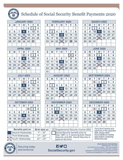 ssi payments calendar images file printable